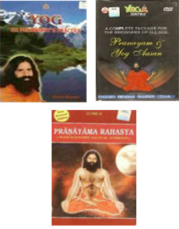 New DVD (in English & Hindi both in one DVD) + Pranayama + Yog Its Philosophy Book  in english
